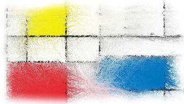 Rot-Blau-Gelb-Pointillismus von Maurice Dawson