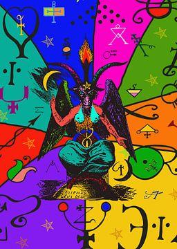 Pop Art Baphomet van Lucia