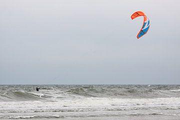 Kitesurfer bij Domburg van MSP Canvas