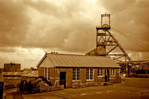 Voormalig mijnbouw dorp in Cornwall, Engeland