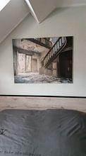 Kundenfoto: Treppe in der verlassenen Villa, Belgien von Art By Dominic, auf leinwand