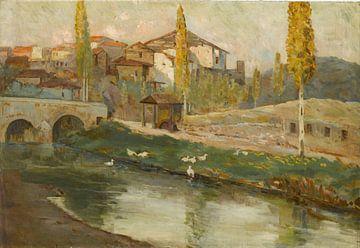 Mehmet Ali Laga (Türkisch, 1878-1947)~Landschaft mit Brücke