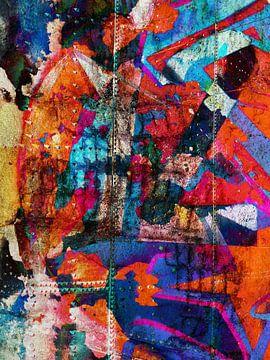 Modern, Abstract kunstwerk - Dreams Full Of Color Part 2 van
