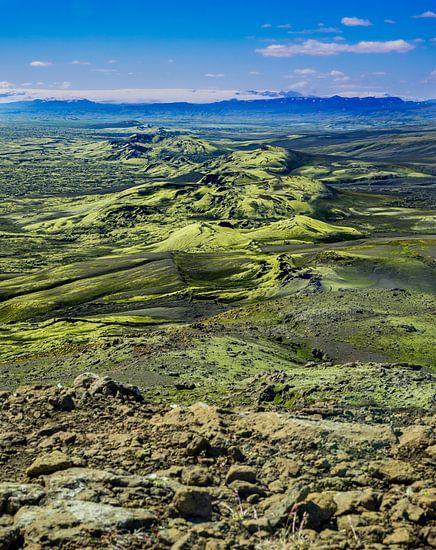 De Laki kraters in Ijsland tijdens de zomer van 2020