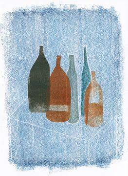 Flaschen auf Tabelle 2, 2020 von Corine Teuben