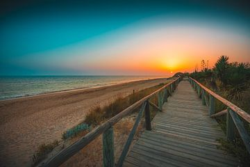 Rota Spanje zonsondergang van
