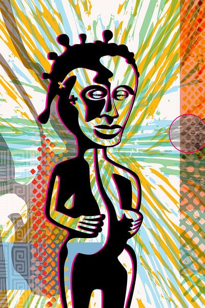 afrikanische Figur von Siegfried Gwosdz