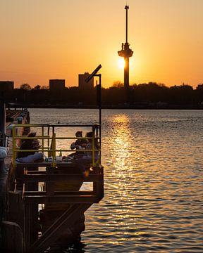 Sonnenuntergang in Rotterdam von Peter Hooijmeijer