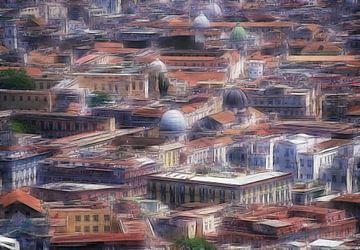 Naples impression paysage  sur Marcel van Balken