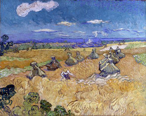 Vincent van Gogh. Korenveld met boer in Auvers