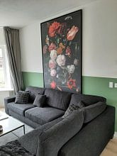 Kundenfoto: Blumenstrauß in einer Glasvase, Jan Davidsz. de Heem, auf leinwand