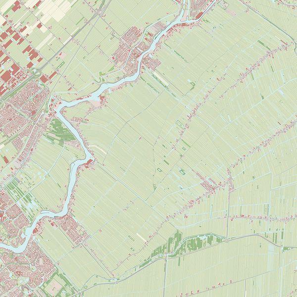 Kaart vanOuderkerk van Rebel Ontwerp