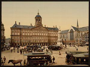De Dam, Paleis op de Dam en Nieuwe Kerk, Amsterdam