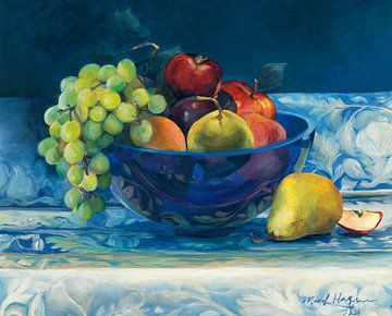 Fruit in kobaltkom, Marilyn Hageman van Wild Apple