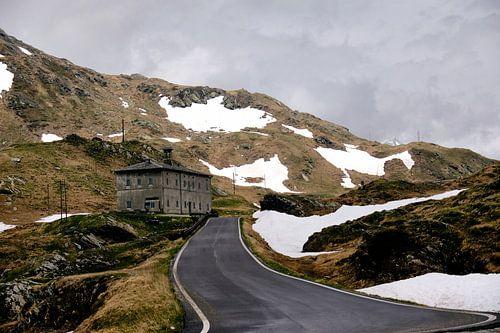 Het mooie Zwitserland op de grens met Italie