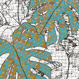 GATENPLANT een gedetailleerd dessin van MY ARTIE WALL