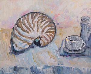 Stilleven met schelp (Nautilus)
