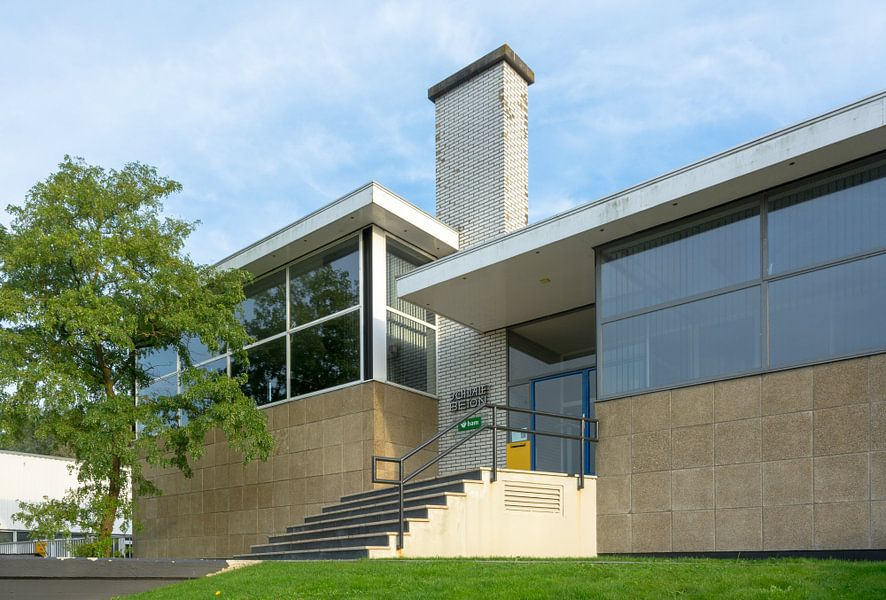 Kantoor En Meer : Rietveld kantoor zwolle van walter frisart op canvas behang en meer