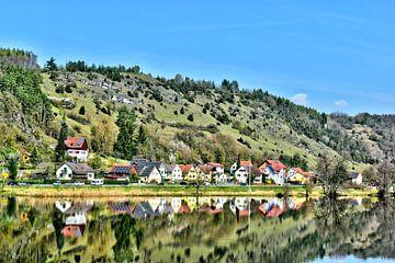 Panoramisch uitzicht op Kallmünz van Roith Fotografie