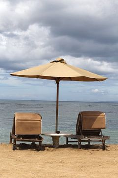 Vintage Strand atmosphäre, Bali von Inge Hogenbijl