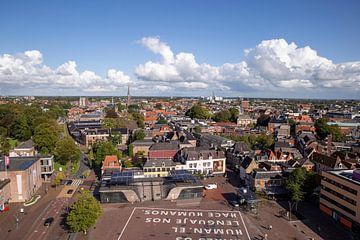 Blick über Leeuwarden von Sander de Jong