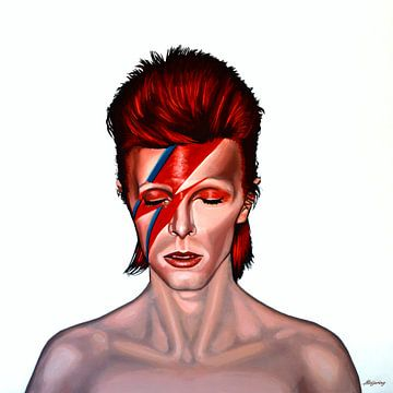 David Bowie Aladdin Sane painting von Paul Meijering