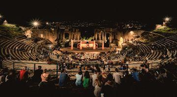 Grieks-Romeins Theater Taormina Sicilie van Mario Calma