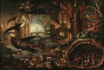 Aeneas, die von der Sibylle in die Unterwelt gebracht wurden, Jacob Isaacsz. van Swanenburgh.