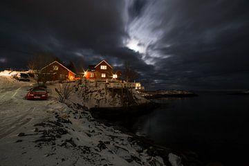 Nacht In De Lofoten van Ken Costers
