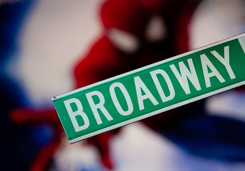 Spiderman op Broadway van Michiel Mos