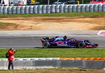 Brendon Hartley (Toro Rosso) pendant le GP d'Espagne de Formule 1 2018 sur Robin Smeets