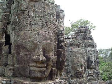 Bayon (Angkor Watt) Tempel Cambodja von Martin van den Berg Mandy Steehouwer