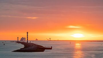 Zonsondergang Hoek van Holland van Jeroen Kleiberg