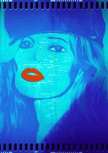 Kate Moss Red Lips Pop Art PUR
