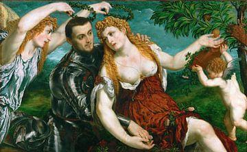 Paris Bordone, Venus, Mars und Amor gekrönt von Sieg - 1500er Jahre von Atelier Liesjes