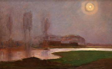 Piet Mondriaan. Landschap met maanlicht van