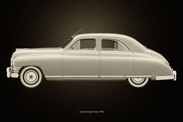 Packard Eight Sedan Schwarz und Weiß von Jan Keteleer
