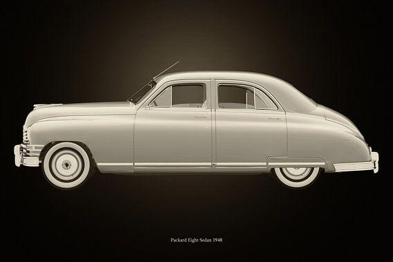 Packard Eight Sedan Zwart en Wit