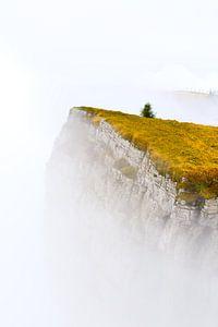 Berg in de mist van Arjen Delmeer