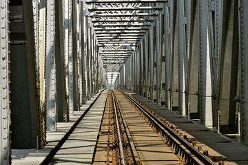 Eisenbahnbrücke bei Zaltbommel von Theo van Woerden