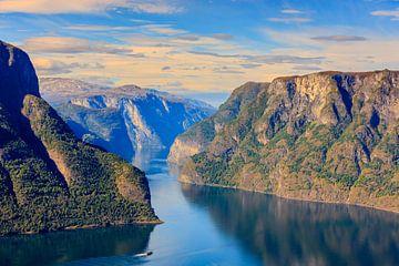 Aurlandsfjord, Noorwegen van Henk Meijer Photography