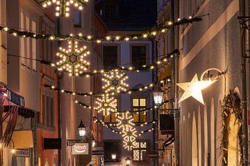 Weihnachtsbeleuchtung in der Oberen Bachgasse in Regensburg von Robert Ruidl