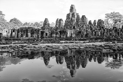 ANGKOR WAT, CAMBODIA, DECEMBER 5 2015 - Ruines van de Bayon temp van Wout Kok