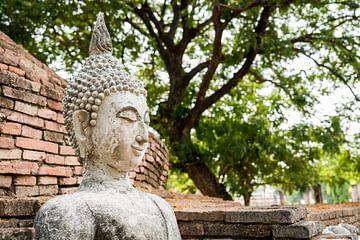 Boeddha in de tempel van Thailand sur Marcel Derweduwen