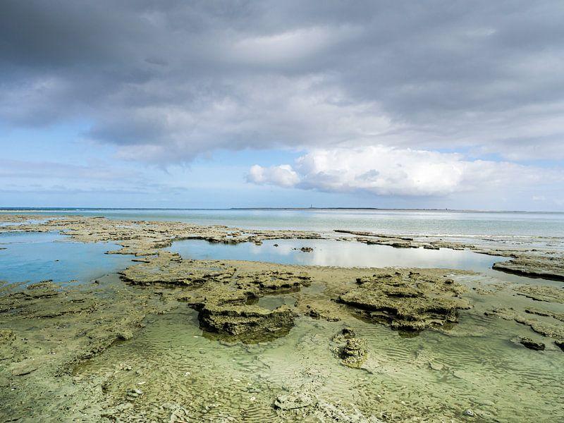 Trockenes friesisches Wattenmeer in der Nähe des Meereslochs von Jan Huneman