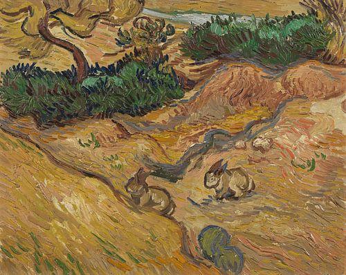 Vincent van Gogh, Landschap met konijnen van