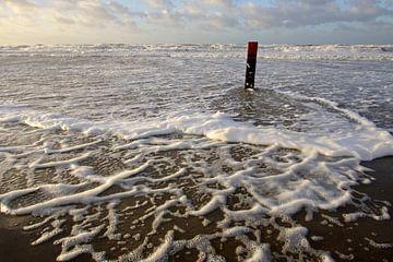 Strandpaal op Texel von Antwan Janssen