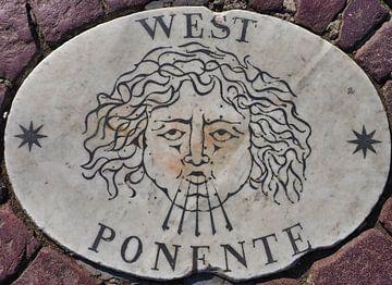 West, Potente, 1 van vier windstreken van het St Pietersplein (1/4) van Atelier Liesjes