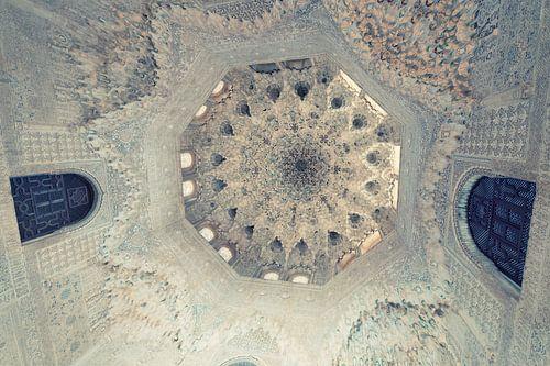 Islamitische gravures en arabische architectuur