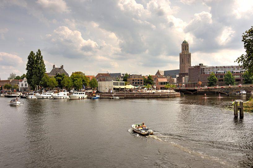 Stadsfront Zwolle in de zomer van Fotografie Ronald